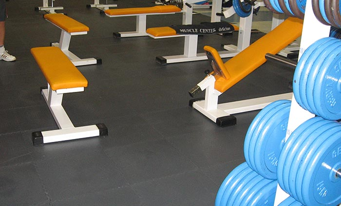 Weight room floorings - Bodybuilding flooring - Traficline